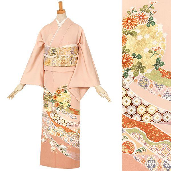 E100 ピンク 花丸紋に熨斗