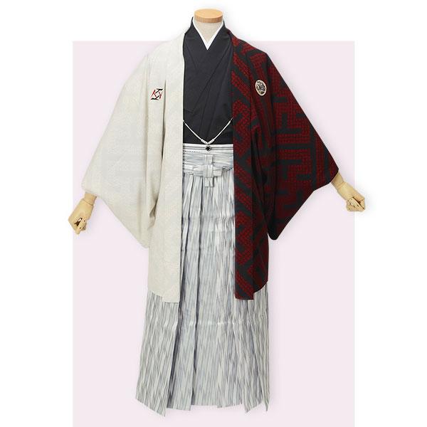 Y034-Y175 白×黒赤 柄袴