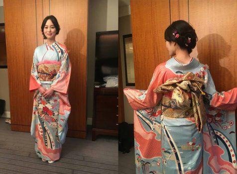 絶賛公開中の映画「七つの会議」の完成披露試写会で朝倉あきさんに振袖の衣裳提供をしました♪