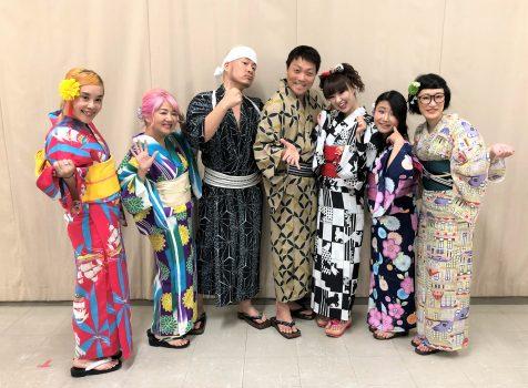 吉本坂46 浴衣で写メ会に衣装協力しました